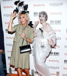 Marchesa designers Keren Craig and Georgina Chapman attended Heidi Klum'sm Alfred Hitchcock films. Craig was disguised as Tippi Hedren from The Birds while Chapman's look was reminiscent of the shower scene in psycho.