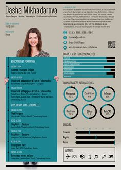 Flat resume of web-designer