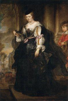 "Peter Paul Rubens:  Helene Fourment, c. 1639, oil on canvas, 6'5"" x 4'4"" - The Louvre."
