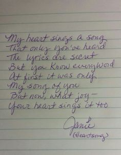 My Heart Sings a Song 1/18/15
