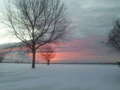 Winter Sunrise in Iron Mountain, Michigan 2013