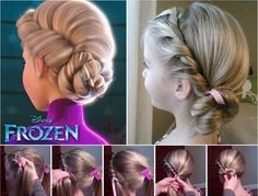 Spectacular Disney Frozen Movie Inspired Hairstyle Tutorials - http://www.stylishboard.com/spectacular-disney-frozen-movie-inspired-hairstyle-tutorials/