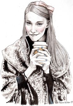 Fashion illustration by Hannah muller
