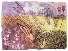 'The watchful hare' 40 x 30 cm