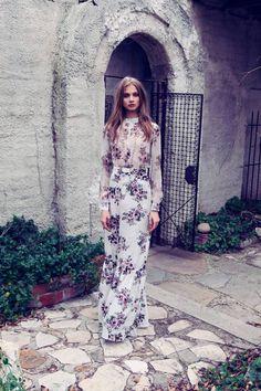 anna selezneva / long-sleeved, long dress