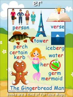er Phonics Poster - a FREE PRINTABLE poster for auditory discrimination, sound studies, vocabulary and classroom reference.