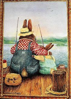 I Love You Little Young One, Too. - Illustration/Painting by Susan Wheeler Susan Wheeler, Beatrix Potter, Bunny Art, Cute Bunny, Bunny Painting, Rabbit Art, Illustrations And Posters, Whimsical Art, Cute Illustration