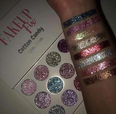 Our Cotton Candy Inspired Pressed Glitters are the perfect makeup for day or night! Our Cotton Candy Inspired Pressed Glitters are the perfect makeup for day or night! Cute Makeup, Perfect Makeup, Gorgeous Makeup, Makeup Set, Easy Makeup, Amazing Makeup, Eye Makeup Glitter, Glitter Makeup Tutorial, Glitter Eyeshadow Palette