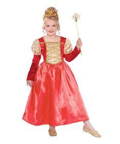 Look at this #zulilyfind! Red Golden Garnet Princess Dress - Toddler & Girls #zulilyfinds