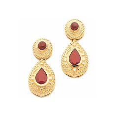 14K Gold Ruby Victorian Earrings, Victorian Earrings, Ruby Earrings, Victorian Jewelry, Ruby Jewelry, Fancy Jewelry, Vintage Jewelry