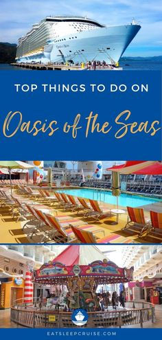 Top 25 Things to Do on Oasis of the Seas | EatSleepCruise.com This Royal Caribbean ship is packed with entertainment for kids and adults alike. From food and drinks to entertainment and activities, there is something for everyone. Check out our top secrets and tips to make the most of your cruise vacation! #cruise #cruisetips #cruiseship #RoyalCaribbean #OasisoftheSeas #eatsleepcruise