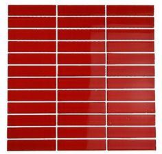 Loft Cherry Red Polished 1X4 Glass Tile by GlassTileStore, http://www.amazon.com/dp/B005HDP6Z4/ref=cm_sw_r_pi_dp_axQbsb025Z10M