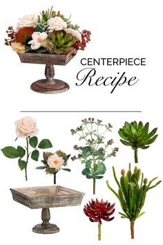 Beautiful faux succulent centerpiece recipe using silk flowers and artificial succulents from afloral.com! Get this look for your home or wedding centerpieces. #diycenterpiece