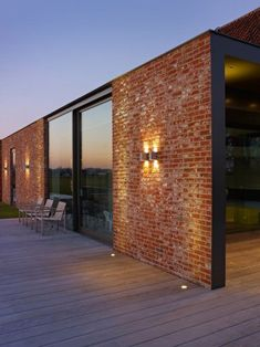 Bricks, glass and wood - my favourite materials brick house designs, modern brick house Modern Brick House, Brick House Designs, Modern House Design, Brick Design, Red Brick Houses, Modern House Facades, Photo D'architecture, Architecture Design, Architecture Tattoo