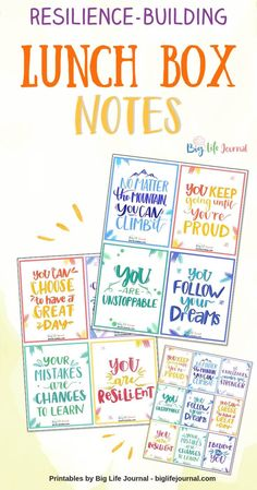 Resilience Building Lunch Box Notes Resilience Building Lunch Box Notes Big Life Journal biglifejournal Growth Mindset for Kids/Tweens/Teens Kids love getting positive affirmation notes! Kids And Parenting, Parenting Hacks, Lunchbox Notes For Kids, Kids Notes, Growth Mindset For Kids, Positive Affirmations For Kids, Life Journal, Quotes For Kids, Yoga Meditation