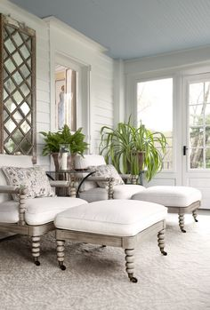 The Blue Porch Ceilings of the South. Today we're crushing on an old Southern tradition, the haint blue porch ceiling: Decor, Room, Home, Haint Blue Porch Ceiling, Decor Styles, Porch Ceiling, Blue Ceilings, Colored Ceiling, Blue Porch Ceiling