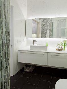 Wonderful Decorating of Contemporary Residence: Fascinating Bathroom Details Glass Tile Backsplash EDDIE House