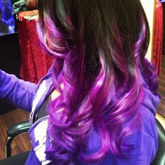 Yep! def doing it next time i color my hair!!! Purple ombre hair :)