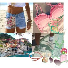 Floral Beach by gregory-joseph on Polyvore