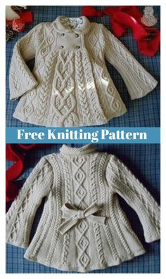 This Elizabeth Coat Free Knitting Pattern is a great way to keep stylish and cozy during a chilly day. Make one now with the free pattern provided by the link below.Baby Knitting Patterns Coat Olive You Baby Cardigan Free KHave some knitting skills? Baby Cardigan Knitting Pattern Free, Kids Knitting Patterns, Baby Sweater Patterns, Knit Baby Sweaters, Knitted Baby Clothes, Knitting For Kids, Girls Sweaters, Knitted Coat Pattern, Crochet Poncho
