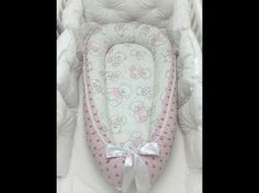 Гнездышко кокон для новорожденных своими руками пошив / babynest - YouTube