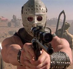 """Lesson Watch Mad Max a. """"The Road Warrior."""" This is the greatest film ever made about post apocalyptic survival. Helps prepare yourself for when guys that look like Jason are firing rifles at you on souped up rusty motorbikes in the desert. Chernobyl, King Kong, Mafia, Mad Max 2, The Road Warriors, Post Apocalyptic Fashion, Apocalyptic Movies, Westerns, Mad Max Fury Road"""