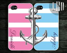 Best Friends Anchor and Pink and Blue by LBCustomDesignsLLC, $22.95 For me and Savannah!