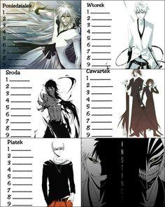 Plan lekcji - Anime - Bleach