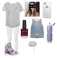 """Glad it's Friday"" by amarianamichelle ❤ liked on Polyvore featuring Frame Denim, Aéropostale, Timberland, LifeProof, Creative, Michael Kors, Victoria's Secret, Beats by Dr. Dre, women's clothing and women"