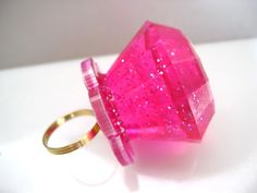 Pink Glitter Ring Pop <3