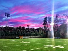 """""""A picturesque ending to #UNC's final on-campus football practice of the season."""""""