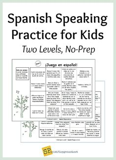 Spanish speaking practice is easy to structure with theme-based activities. Short, no prep speaking activities. Free download includes English version too.