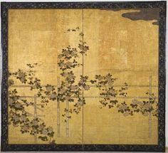 Flowering Clematis on a Bamboo Trellis | Harvard Art Museums