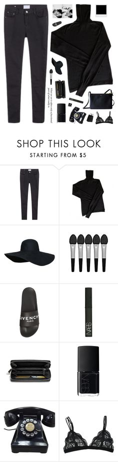"""""""Man, I Feel Like A Woman"""" by xxpai ❤ liked on Polyvore featuring CÉLINE, Sephora Collection, Givenchy, NARS Cosmetics, Coach, Maison Margiela and Polaroid"""