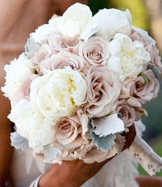 dusty rose wedding flower bridal bouquet flowers - pretty peonies