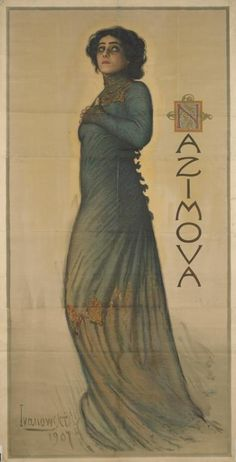 'Hedda Gabler' by Henrik Ibsen (1828-1906) - Poster of Hedda played by Alla Nazimova (1879-1945), 1907