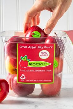 Once you have reached the bottom of your Rockit™ Shuttle, don't toss it into the recycle bin just yet! We have some environmentally friendly ideas on how to keep your home organized. Mason Jar Lids, Tidy Up, Plastic Containers, Recycling Bins, Spring Cleaning, Apples, Upcycle, Packaging, Sweet