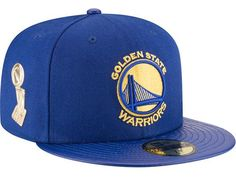 08d13518eea Golden State Warriors Trophy Champ Royal 59Fifty Fitted Cap by NEW ERA x  NBA Nba Fashion