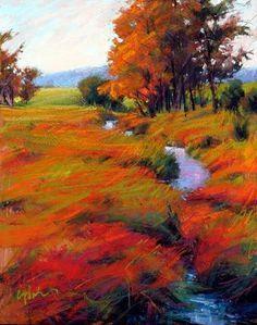 Landscape Paintings and photographs : Susan Ogilvie Pastel Landscape, Abstract Landscape, Landscape Paintings, Pastel Drawing, Painting & Drawing, Pastel Artwork, Photo D Art, Paintings I Love, Pastel Paintings
