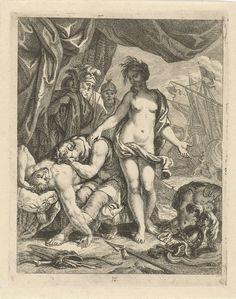 Achilles treurt om de dood van Patroclus, J. Alexander Janssens, Victor Honoré Janssens, ca. 1700