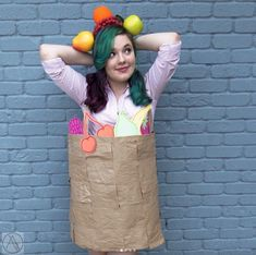 This effortless bag of produce: 23 DIY Halloween Costumes So Clever, You'll Be Mad You Didn't Think Of It First First Halloween, Diy Halloween Costumes, Halloween Party, Halloween Nails, Halloween Recipe, Halloween Makeup, Women Halloween, Halloween Projects, Halloween Decorations