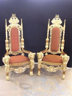 King And Queen Chairs... Had A Pair These At My Reception Except They