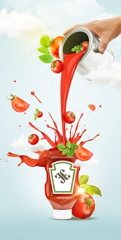 Tomato Ketchup by Jason Ngo, via Behance Ads Creative, Creative Posters, Creative Advertising, Advert Design, Advertising Design, Kraft Heinz, Advertising Pictures, Retail Branding, Brand Presentation