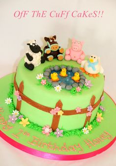 Farm animal cake  Cake by OfF ThE CuFf CaKeS!!