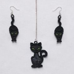 FSL Halloween Earrings And Pendant 09 machine embroidery designs