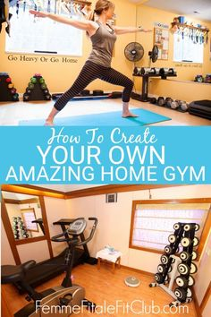 d83342065e1 How to create your own amazing home gym  homegym  gymequipment  weightrack   treadmill