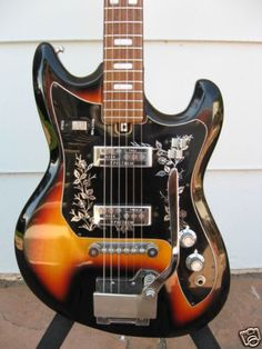 My older guitar.   Vintage Teisco Spectrum 2       ET-220 Electric Guitar