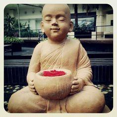 #peace #bliss #solitude #gardensculpture #buddha
