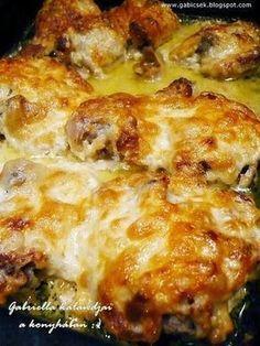 Gabriella kalandjai a konyhában :) Hungarian Recipes, Italian Recipes, Clean Recipes, Cooking Recipes, Chicken Leg Recipes, Good Food, Yummy Food, Salty Foods, Dessert Cake Recipes