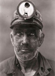 """... coal miner ... haunting. English mining engineer, Bob Whittle said his job leading a rescue team beginning in 1957 was, """"Only my favourite job when good things happened."""" He began his dangerous life at the age of 14 in 1947-1965 when he escaped with his life. """"We looked like this (and worse) every day!"""" At 67 yrs. he became a best-selling author! www.jrobertwhittle.com"""